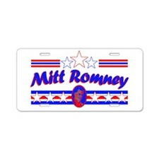 Retro Mitt Romney Aluminum License Plate