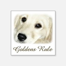 "Goldens Rule Square Sticker 3"" x 3"""