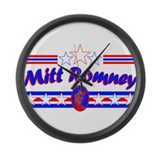 Retro Mitt Romney Large Wall Clock