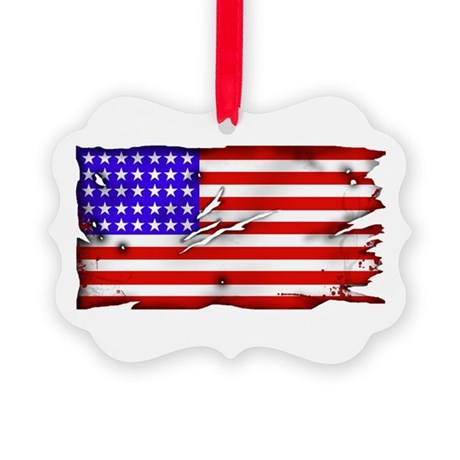 1864 US Flag Picture Ornament
