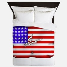 1864 US Flag Queen Duvet