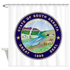 South Dakota State Seal Shower Curtain