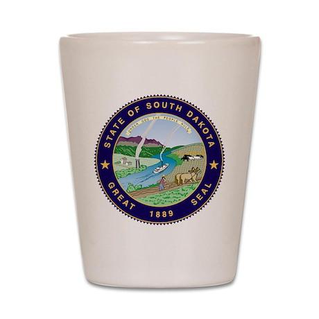 South Dakota State Seal Shot Glass