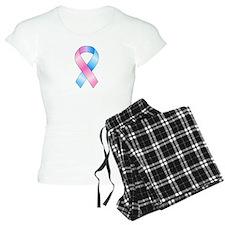 Pink & Blue Ribbon Pajamas