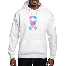 Pink & Blue Ribbon Hoodie