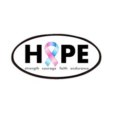 Pink & Blue Ribbon Hope Patches