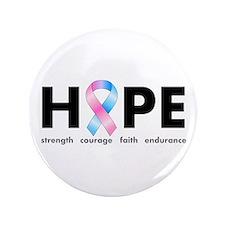 "Pink & Blue Ribbon Hope 3.5"" Button"