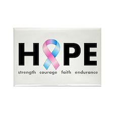 Pink & Blue Ribbon Hope Rectangle Magnet