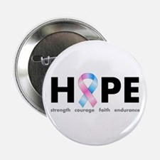 "Pink & Blue Ribbon Hope 2.25"" Button"