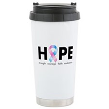 Pink & Blue Ribbon Hope Travel Mug