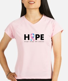 Pink & Blue Ribbon Hope Performance Dry T-Shirt