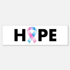 Pink & Blue Ribbon Hope Sticker (Bumper)