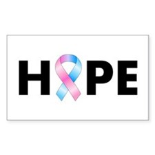 Pink & Blue Ribbon Hope Decal
