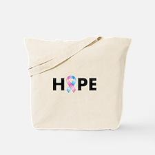 Pink & Blue Ribbon Hope Tote Bag