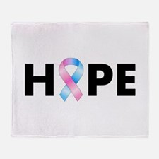 Pink & Blue Ribbon Hope Throw Blanket