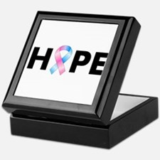 Pink & Blue Ribbon Hope Keepsake Box