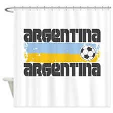 Argentina Soccer Shower Curtain