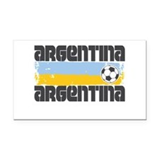 Argentina Soccer Rectangle Car Magnet