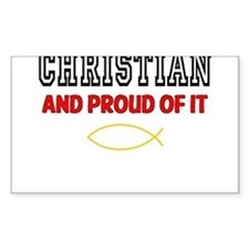 Christian and Proud Stickers