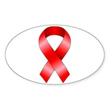 Red Ribbon Decal