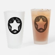 Distressed Vintage Star 1 Drinking Glass