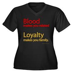 Blood-Loyalty Women's Plus Size V-Neck Dark T-Shir