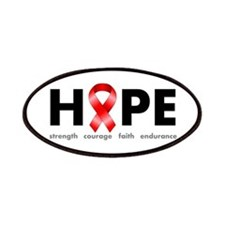 Red Ribbon Hope Patches