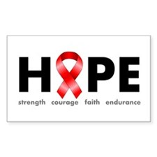 Red Ribbon Hope Decal