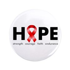 "Red Ribbon Hope 3.5"" Button"