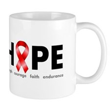 Red Ribbon Hope Mug