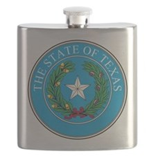 Texas State Seal Flask