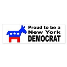 New York Democrat Pride Bumper Sticker