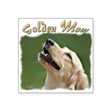 "Golden Mom Square Sticker 3"" x 3"""