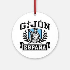 Gijon Espana Ornament (Round)