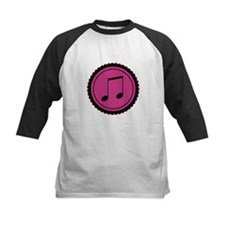 Cute Hot Pink and Black Music Notes Tee