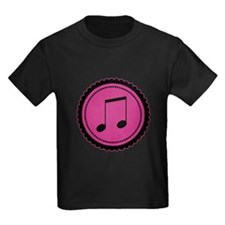 Cute Hot Pink and Black Music Notes T