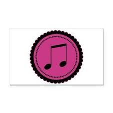 Cute Hot Pink and Black Music Notes Rectangle Car