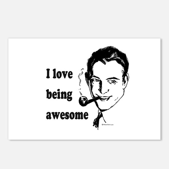 I love being awesome -  Postcards (Package of 8)
