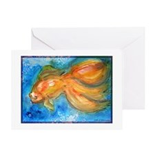 Goldfish, fun art! Greeting Card