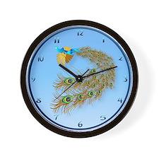 Flying Peacock Oval Wall Clock