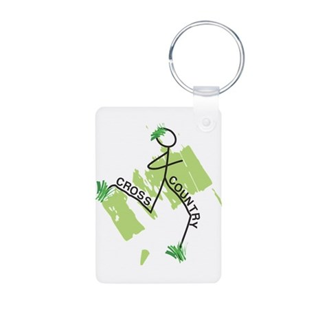 Cute Cross Country Runner Aluminum Keychain