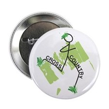 "Cute Cross Country Runner 2.25"" Button"