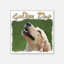 """Golden Dad Square Sticker 3"""" x 3"""""""