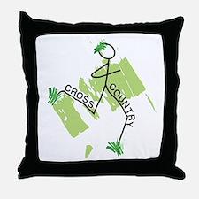 Cute Cross Country Runner Throw Pillow