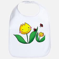 Flowers & Ladybugs Bib