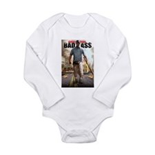 BAD ASS Poster 2 Long Sleeve Infant Bodysuit