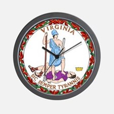 Virginia State Seal Wall Clock