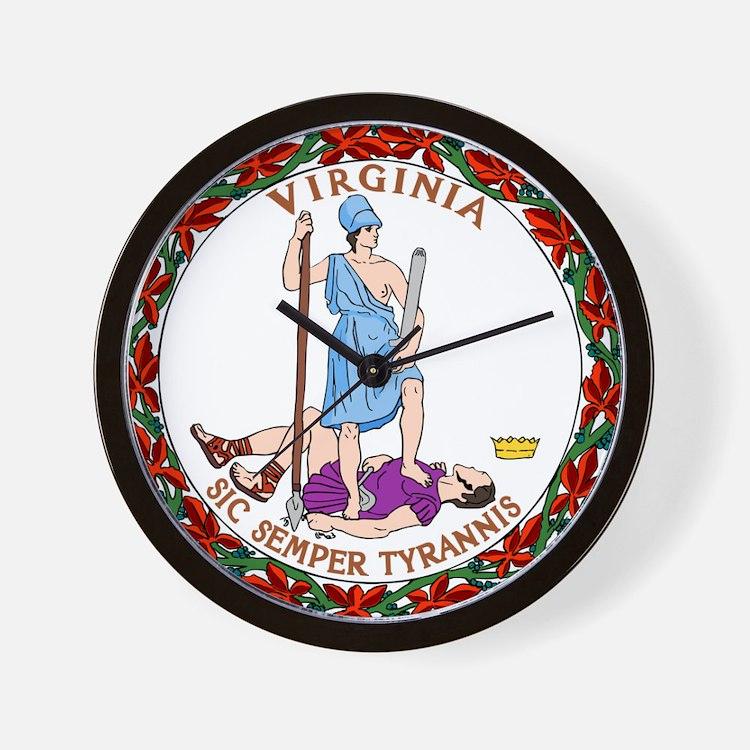 Virginia State Seal Wall Clock