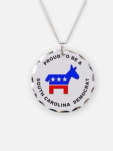 South Carolina Democrat Pride Necklace