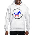 Michigan Democrat Pride Hooded Sweatshirt